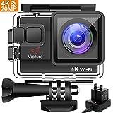 Action Cam 4K WIFI 20MP Victure Wasserdicht 30M Unterwasserkamera Ultra Full HD Sport Action Kamera mit Ladegerät 2 Akkus und Gratis Zubehör