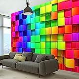 murando - Fototapete Kubus 350x256 cm - Vlies Tapete - Moderne Wanddeko - Design Tapete - Wandtapete - Wand Dekoration - 3D f-A-0350-a-a