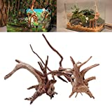 ECMQS Aquarium Dekoration Holz Natürliche Stamm Treibholz Baum Aquarium Pflanze Stumpf Ornament Landscap Decor (S)
