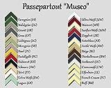 Passepartout MUSEO bis 40,0 x 50,0 cm individueller Zuschnitt nach Ihren Angaben - 26 Farben. Aktuelle Auswahl: Cremeweiß