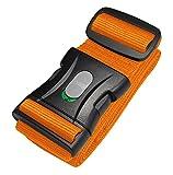 Kofferband | Koffergurt | Gepäckgurt extra lang (250x5cm) mit Sicherheitsverriegelung der Schnalle von BE-HOLD schützt Ihren wertvollen Gepäckinhalt vor Verlust