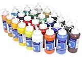 24 x Acrylfarbe je 500 ml, komplettes MEGA-SPARSET, original MAGI hochwertige Künstler Farben (kein Dekoacryl)