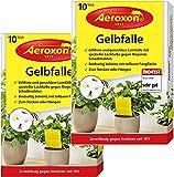 Aeroxon - Gelbfalle - Gelbsticker - 20 Stück - Perfekt gegen Ungeziefer in ihrem Garten - Gegen Blattläuse, Minierfliegen, Trauermücken und weiße Fliegen