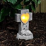 solarbetriebener, geschmackvoll, gediegen und liebevoll gestalteter Gedenkstein für Ihren Hund, von Festive Lights