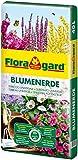 Floragard Blumenerde 40 L - Universalerde für Zimmer-, Balkon- und Kübelpflanzen - mit Ton und Langzeitdünger - auch für Gartenpflanzen