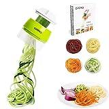 Opard Spiralschneider Hand für Gemüsespaghetti, 4 in1 Gemüseschneider,Gemüse Spiralschneider Gemüsehobel für Karotte, Gurke, Kartoffel, Kürbis, Zucchini