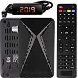 Echosat OM-26100 Mini Sat Receiver -DVB S/S2 Satelliten Receiver Full HD 1080 P HDMI 2 x USB 2.0 HDTV [Digital Satelliten Receiver] ️{Astra Hotbird Türksat }️-Schwarz