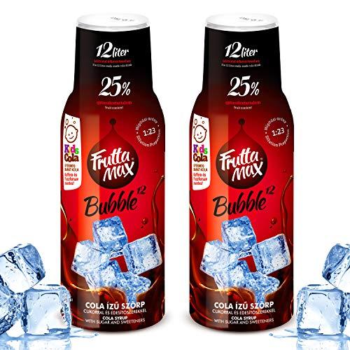 Frutta Max Getränkesirup Frucht-sirup Konzentrat | Cola- Koffein-Phosphorsäure frei Geschmack | weniger Zucker | Gesund und lecker mit 25% Fruchtanteil | für Soda Maschine geeignet 2erPack