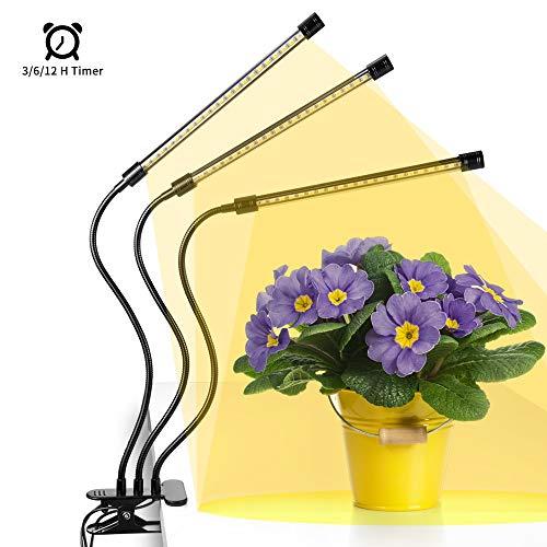 Anten Pflanzenlampe 30W dimmbar Led Grow Light Vollspektrums Pflanzen Licht Lampe Pflanzenlicht Pflanzenleuchte,3 Modus, 6 Lichtstärken, mit Klemme für Garten Zimmerpflanzen