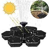 Amokee Solar Springbrunnen, Solar Teichpumpe Fontäne Wasserpumpe Solar Pumpe mit 1.5W Monokristalline Solar Panel für Gartenteiche, Fisch-Behälter, Garten Springbrunnen Wasserspiel Dekoration