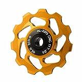Alu Stützrad Fahrrad hinten Schaltwerk Riemenscheibe Lager Spannung Führungsrad Fahrrad-Schaltwerk-Schaltwerk-Jockey-Rad 11T Zahn-Aluminiumlegierung CNC-Flaschenzug, der keramisches Material trägt