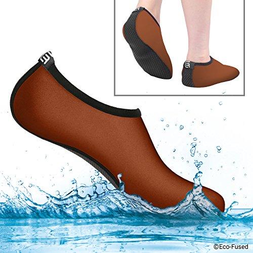 Aqua-Socken für Frauen – Mehr Komfort – Schützen vor Sand, kaltem/heißem Wasser, UV-Licht, Steinen/Kieseln – Easy Fit Schuhe für Schwimmen, Beach Volleyball, Schnorcheln, Segeln, Surfen, Yoga