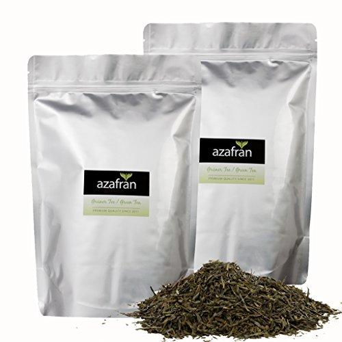 Grüner Tee - Japanischer BIO Sencha Uchiyama Grüntee (1kg) von Azafran - Ca. 400 Tassen Genuss