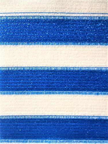 Easy Gardening Balkonumspannung, inkl. Kabelbinder, Größen (0,75 x 10 m, blau/Weiss)