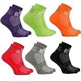 6 Paar bunte Anti-Rutsch-Socken mit ABS-System,ideal für solche Sportarten,wie Joga,Fitness Pilates Kampfkunst Tanz Gymnastik Trampolinspringen.Größen von 44 bis 46, atmende Baumwolle