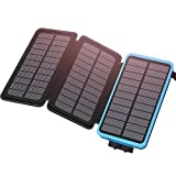 ADDTOP Solar Powerbank 24000mAh Solar Ladegerät mit 2 USB Ports 2.1A Output, Tragbar Externer Akku für Das iPhone, iPad, Samsung Galaxy und andere Smartphones/Handys (Wasserdichte)