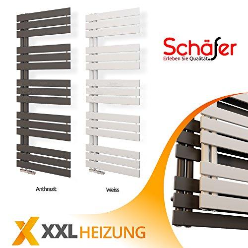 Badheizkörper 50 mm Anschluss Design Paneelheizkörper Heizung (500 x 1638 mm, Weiß)