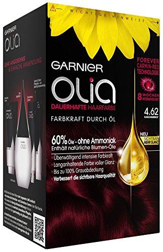 Garnier Olia Haar Coloration Kaschmirrot 4.62/Färbung für Haare enthält 60% Blumen-Öle, (3 x 1 Stück)