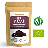 Açaí Beeren Pulver Bio [ Gefriergetrocknet ] 100g | Pure Organic Acai Berry Powder ( Freeze - Dried ) | 100% aus Brasilien, Getrocknet, Rohkost und Extrakt aus Pulp der Acai-Beeren Frucht | Superfood Reich an Antioxidantien und Vitaminen | Ideal für Saft, Smoothie, Rezepte, in der Müsli | 100% Vegan Friendly | NATURALEBIO