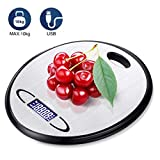 Küchenwaage Baban 10kg Küchenwaage Digitale(Maximalgewicht) mit berührungsempfindlichen tasten präzise waage auf bis zu 1g, große Größe, Inklusive Akku und USB-Netzteil