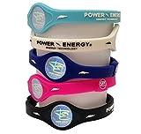 Power Energy Balance Band, Fitness-Armband aus Silikon mit holografischem Motiv, mit natürlichen Mineralien und negativen Ionen angereichert