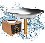 Havat Badewannenstöpsel Universal Premium | Ø 72 mm für handelsübliche Abflüsse in der Badewanne | Doppel Dichtung | Abfluss-Stopfen aus Messing mit Chrom Oberfläche | Rostfrei & Dicht (Chrome)