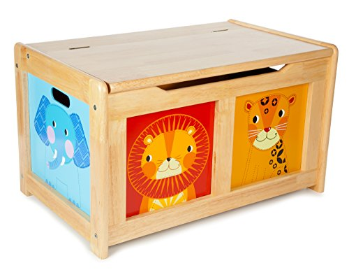 Tidlo T-0227 - Jungle Spielzeugtruhe Natur, Spielwaren