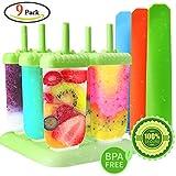 GeMoor Stieleisformer Set Silikon BPA Frei Eis Formen - 6 Stück Eis am Stiel und 3 Stück Eislutscher Formen für Kinder und Erwachsene