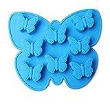 Milopon Eiswürfelformen Eiswürfelform Eiswürfelschale aus Silikon Schmetterlinge Eiswürfel Box Eiswürfel Silikonformen Whiskyquadrate Eiswürfelbereiter Eiswürfelschale 8 pro Schale