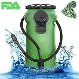 SKL 3 Liter Trinkblase Große Öffnung Wasserblase FDA Geprüfter BPA-Frei Trinksystem Ideal für Outdoor-Radfahren, Wandern, Laufen, Camping, Walking