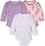 Care Baby - Mädchen Langarm-Body im 3er Pack, Mehrfarbig (Rhapsody 481), 0 - 3 Monate (Herstellergröße: 56 )