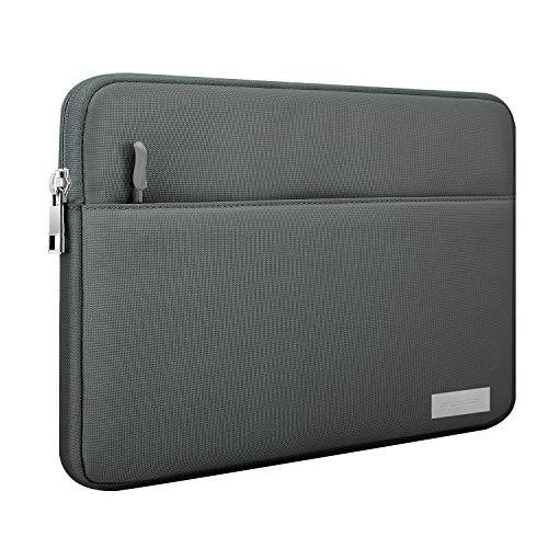 MoKo Kompatibel mit 9-11 Inch Sleeve Tasche, Schutzhülle mit Reißverschluss und 2 Tasche aus Polyesterfaser für iPad Pro 11, iPad 10.2 2019, iPad Air 3 10.5', iPad Pro 10.5, iPad 9.7 - Dunkel Grau