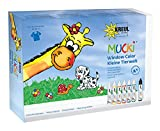Mucki 24451 - Window Color Set Kleine Tierwelt, inkl. Folien und Malvorlage, auswaschbar, leicht entfernbar, 7 x 29 ml