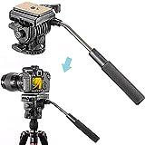 Neewer (Pro Version ein Neewer Produkt) Fluid Videokopf Videoneiger Stativkopf Kugelkopf mit Schnellwechselplatte für Canon, Nikon, und andere DSLR-Kameras mit 1/4 'Gewinde bis zu 8,8lbs / 4 kg, Stative mit 3/8' Gewinde