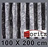 Moritz Chenille Flauschvorhang Fliegenschutz 100 x 200 cm NEU 24 Stränge (dunkelgrau / grau)