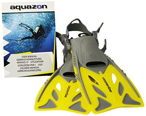 Aquazon Flossen Barracuda, Gelb, 32-37, AQFIBAYE3237