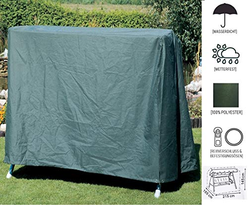 Wetterfeste Schutz-Hülle für Garten-Möbel I Robuste Abdeckung für 3-Sitzer Hollywood-Schaukel aus wasserdichtem Polyester zum Schutz vor Regen Wind & Wetter I Reißfeste Plane mit Befestigungsösen