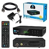 Kabel Receiver DVB-C SET: HB DIGITAL HD 250C DVB-C Receiver für Kabelfernsehen + HDMI Kabel mit Ethernet Funktion und vergoldeten Anschlüssen (Full HD Ready, HDTV, HDMI, SCART, USB 2.0, SPDIF Koaxial Ausgang, 230V/12V Camping Receiver)