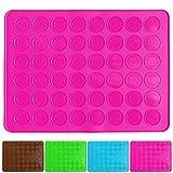 Belmalia Macarons Backmatte aus Silikon für 24 perfekte Makronen 48 Mulden antihaftbeschichtet 38x28cm