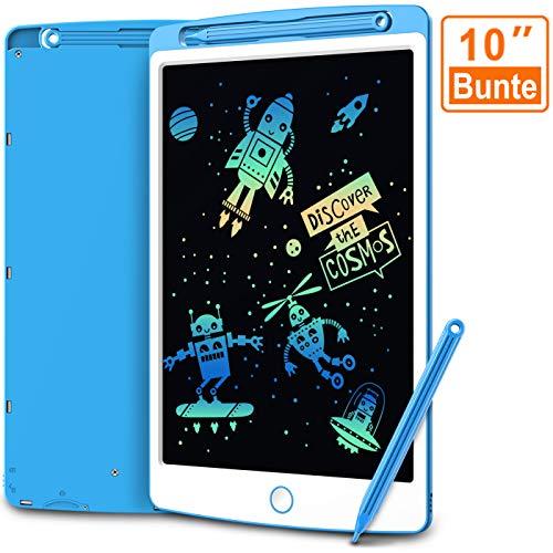 COOVEE LCD Schreibtafel 10' Bunte hellere Schrift mit Anti-Clearance Funktion und Dicke Linien Stift papierlos für Schreiben Malen Notizen Super als Geschenke