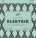 E-Gitarren-Saiten  Erstklassige Nickel-Saiten für E-Gitarre (6-Saiten-Set)   BONUS: Gratis Ebook + 3 Plektren