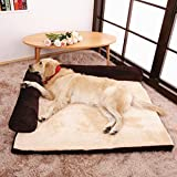 Glanzzeit Luxus Hundebett Schlafsofas für Hunde / Katzen Weiche Hundesofas Waschbare Hundekissen mit Kuscheligem Plüsch (XL, Braun)