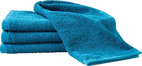 Erwin Müller Gästetuch-Set 4er-Pack - 100% Baumwolle - Petrol Größe 30x50 cm - kuschelweich, saugstark, voluminös - praktisch durch beidseitige Schlaufen (weitere Farben)