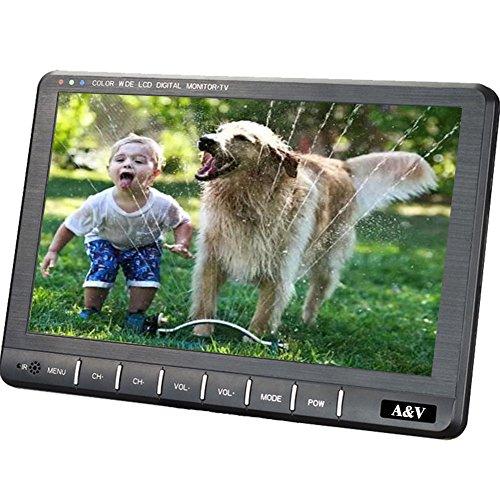 A&V 9 'Portable HD Freeview Digital-TV mit HDMI-Port, DVB-T / DVB-T2 H.264 / H.265 Tuner- HD Antenne für Küche, Dorf, Wohnmobil, Krankenhaus, Pflegeheime, Schlafzimmer ...