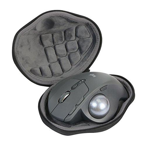 Hart Reise Schutz Hülle Etui Tasche für Logitech MX Ergo Fortschrittlicher kabelloser Trackball Maus Mouse von co2CREA (black)
