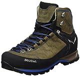 Salewa Mountain Trainer Mid Leder - Halbhoher Bergschuh Herren, Herren Trekking- & Wanderstiefel, Braun (Walnut/Royal Blue 2714), 44 EU (9.5 Herren UK)