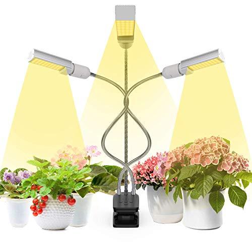 LED pflanzenlampe, Vogek 66W Grow Lampe Pflanzenlicht Vollesspektrum Wachstumslampe 132 LEDs mit Timing Wachstumslampe,3 Timer 4/6/12H Birnen E26 / E27 für Zimmerpflanzen Gartenarbeit Gewächshaus