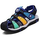 Geschlossene Sandalen Sommer Strand Outdoor Sport Trekking Klettverschluss Schuhe Für Kinder Jungen Mädchen, Schwarz 34