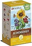 BIO Blumendünger | Plantura | Langzeitwirkung | für eine üppige & prächtige Blüte | 100% tierfrei & bio-zertifiziert | gut für den Boden | unbedenklich für Haus- & Gartentiere | Naturdünger | 1,5 kg | NPK 4-2-7
