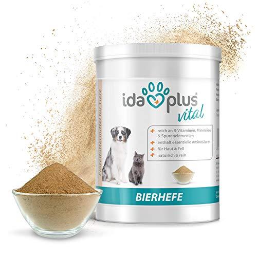 Ida Plus - Reines Bierhefe-Pulver 500g - Futterergänzung für glänzendes Fell & Haut - reich an B-Vitaminen, Mineralien & Spurenelementen - Naturprodukt für ihre Pferde, Hunde, Katzen & Hühner